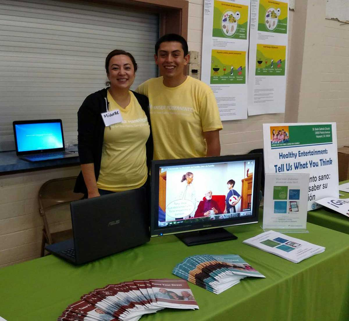 With Michelle of Health Education at a Community Health Fair